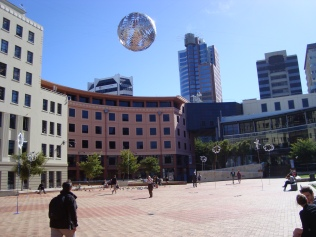 Ball in The Air, over Wellington Civic Square