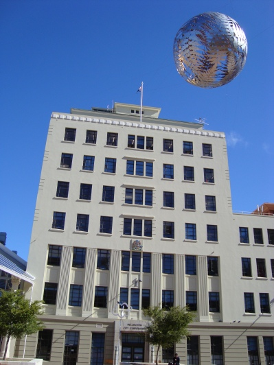 The Old Town Hall with the Big Silver Ball