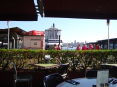 Circular Quay - from inside Rossini's