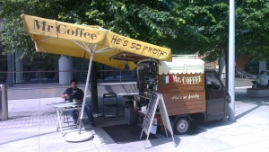 Eddie's Coffee Cart - down at Paddington Basin